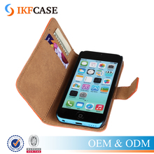 Retro Genuine Leather Case For iPhone 5C Flip Cover Business Wallet Style Phone Case