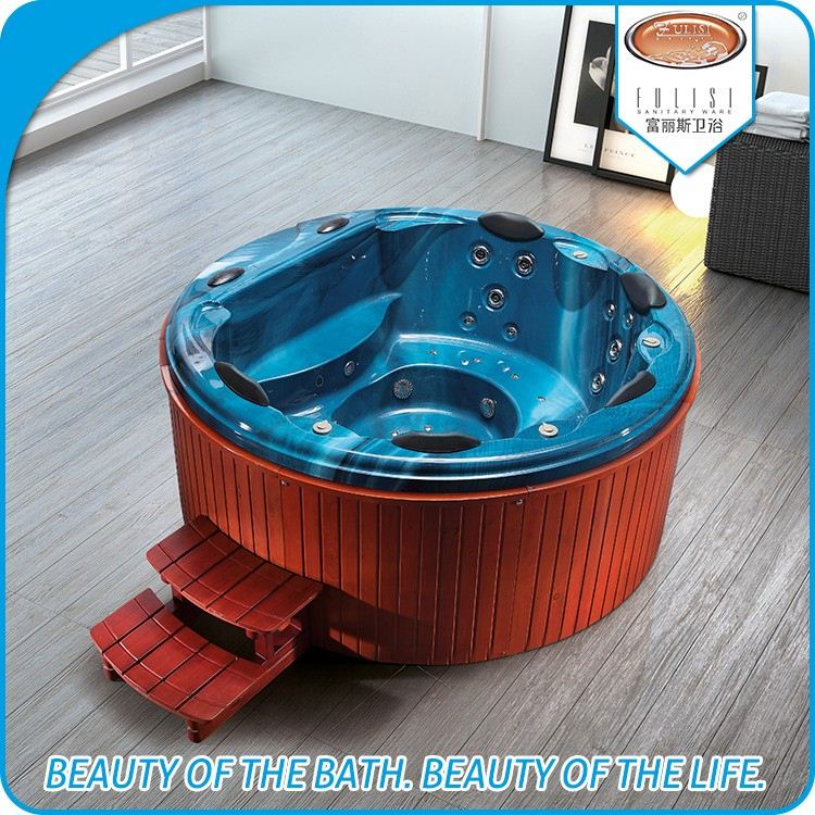 2016 wholesale 5 people spa round shape hot tubs for home