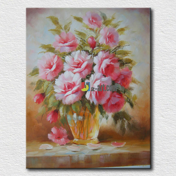 Hot selling flower diy oil painting,handmade flowers digital oil paintings,floral paints