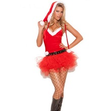 MOON BUNNY New Xmas Miss Santa's Sweetie Costume Hot 2016 New Year Clothes Christmas Costumes Festive Cosplay Santa Christmas