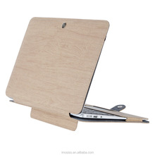 Mosiso Premium Quality PU Leather Book Cover Clip On Folio Sleeve with Stand Function for Macbook Air 13.3 Wood Texture Pattern