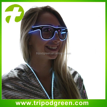 sunglasses 2AA batteries PC multicolor light-emitting fluorescent glasses, EL astigmatism glasses, Stage Rave Wild Party
