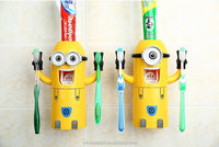 Mr. Minions toothpaste dispenser kids funny bathroom accessories/Automatic toothpaste dispenser toothbrush rack tumbler set