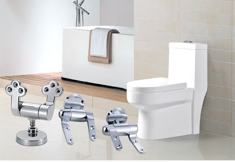 Novelty toilet seat replacement brackets hinges P-805