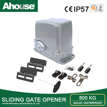 Ahouse sliding gate opener /DC24V/800KG/electronic and solar system