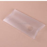 Elegant custom logo printed pillow box packaging clear plastic boxes pet