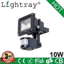 Top Quality 10w Outdoor LED Motion Sensor Security Light with 3Years warranty IP65 CE ROHS EMC LVD