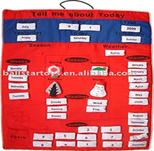 Sell kid game toy Cloth Soft Calendar,educatonal toy for baby factory