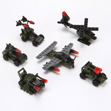 Promotion hot selling plastic building blocks toys, DIY connector robot, helicopters, tanks block toys