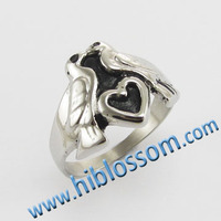 fashion casting love symbol jewelry animal sex women's ring