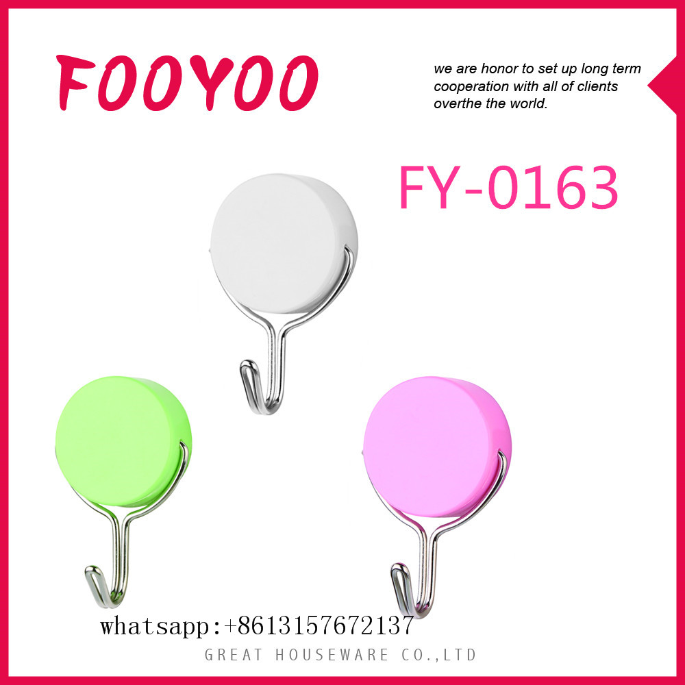 FOOYOO FY-0163 DAILY SELF ADHESIVE PLASTIC J WALL HANGER HOOKS