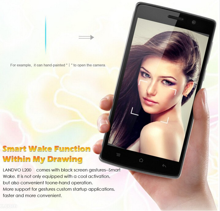 Landvo L200 5.0 inch mobile phone 3G Android Mobile Phone Touch Screen Dual Sim Card Landvo L200