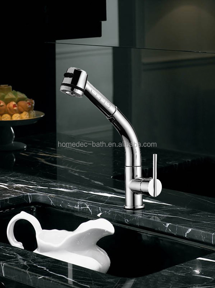Deck Mount Installation Chrome Plated Classic Kitchen Sink Faucet