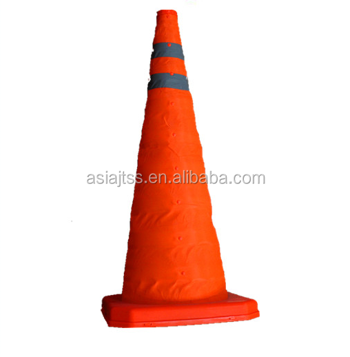Reflective Collapsible LED Light Traffic Cones with Sizes 400mm,500mm,600mm,700mm