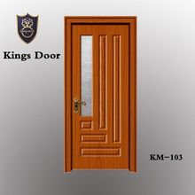 Construction building materials wooden storm interior doors with glass insert