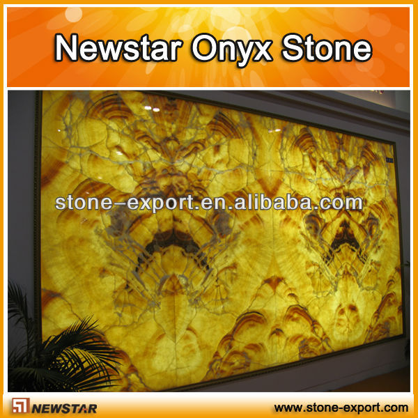 transparent yellow onyx stone