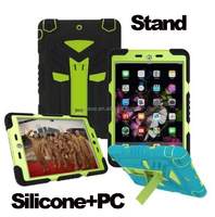 Wholesale New Design Silicone PC 3 in 1 Stand Case for Ipad Mini 1 2 3 4