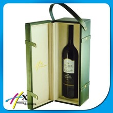 High Quality Portable Leather Wine Carrier