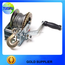 OEM wire rope/webbing hand winches,trailer brake hand winch for boat