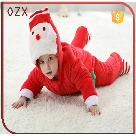 baby fashion warm winters out wear santa bodysuit
