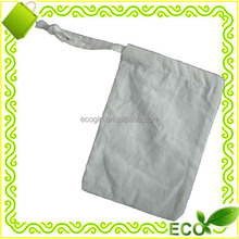 biodegradable reusable promotional 100% natural cotton drawstring eco cotton string bag
