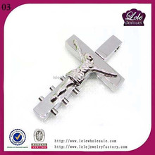 stainless steel crucifix logo cross pectoral pendant