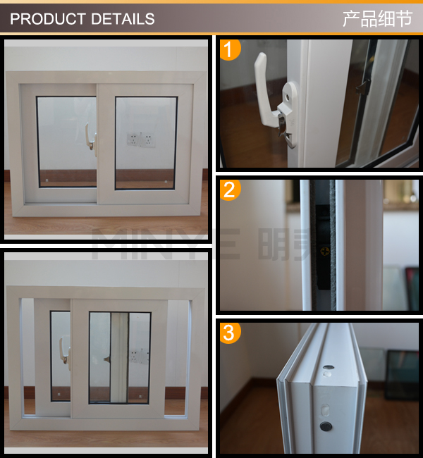 China manufacturer sliding window with 4 panels