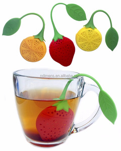 Cute strawberry shape silicone tea infuser