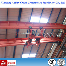 Industrial double beam construction used overhead crane with electric hoist