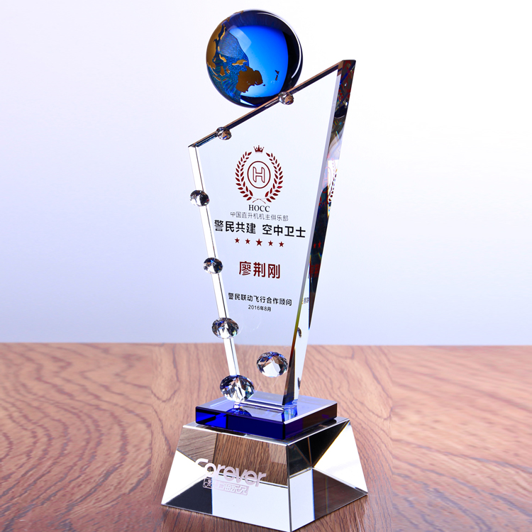 transparent globe crystal awards / crystal craft souvenirs / crystal globe plaque
