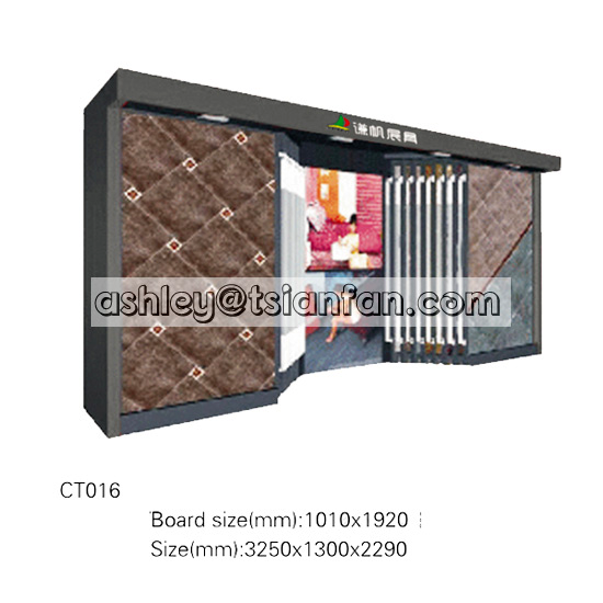 bedroom floor tiles display stand/ceramic tiles display racks stands for showroom exhibition CT016
