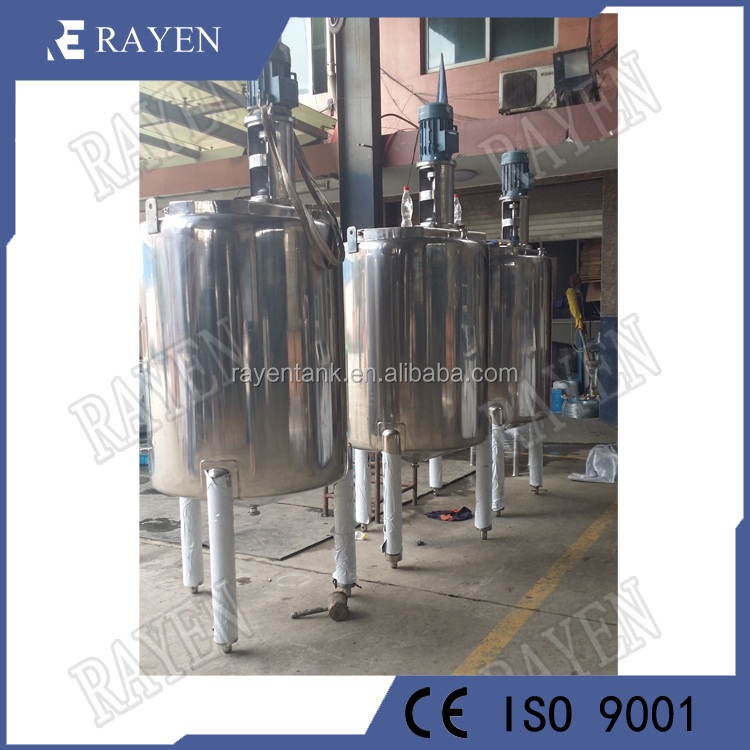stainless steel tank with agitator formulation mixing tank