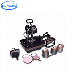 HT-CO08 Factory supply 8 in 1 combo coffee magic mug cup tshirt heat press printing machine