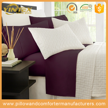 Luxury Rest dubai star hotel designed wholesale bamboo bed cover bed sheet sets with top quality