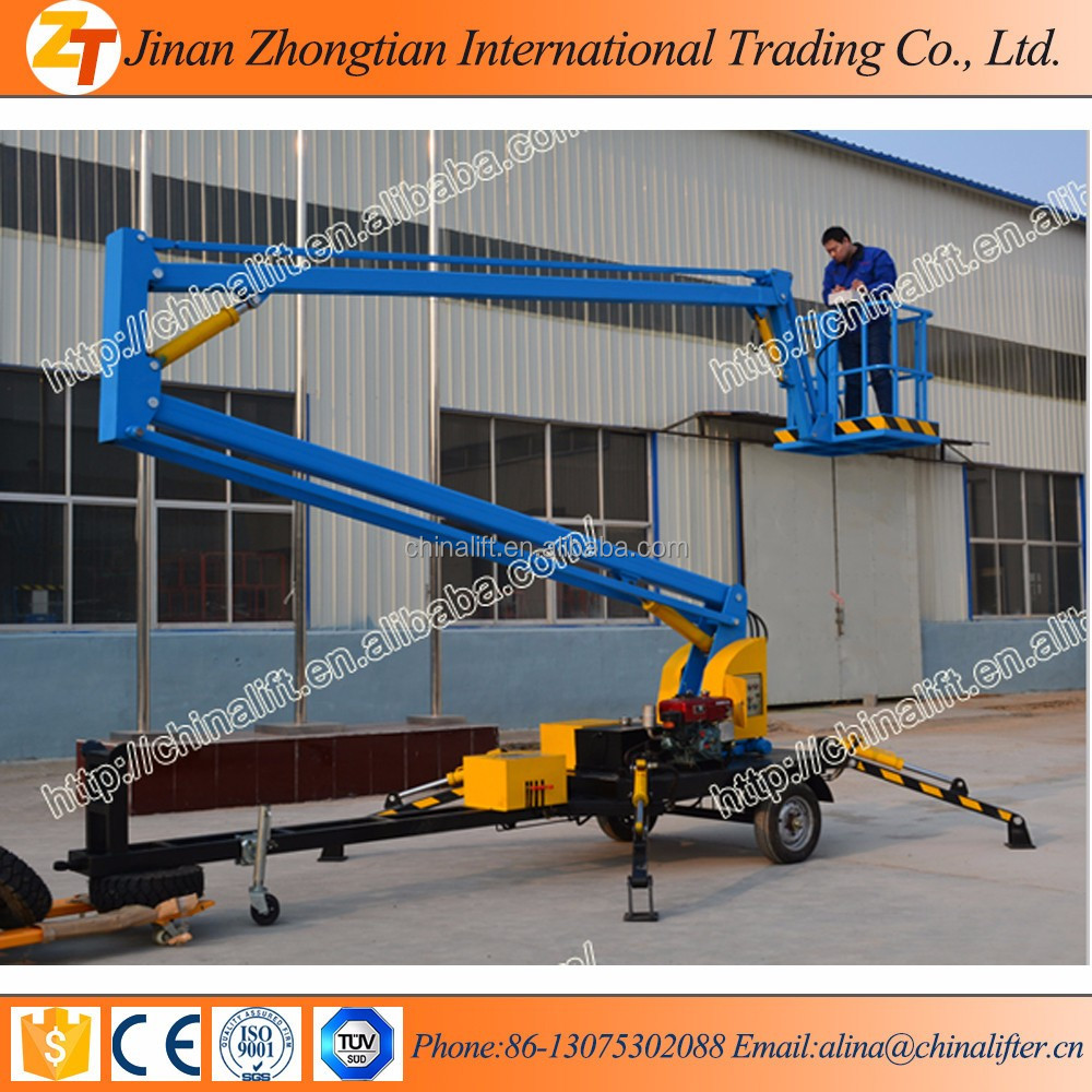 10-14m Self Propelled Telescopic Boom Lift/man Lifter For Sale