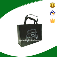 Shopping use and pp non woven material eco carrier bag with opp film cmyk printing