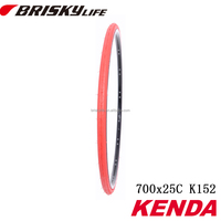 Orange bicycle tire for cruisers and trekking bikes color tires