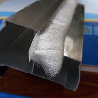 High quality plastic weather strip/white decorative window strips