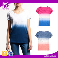 2017 Guangzhou Shandao Casual Summer Beach 180g 35% Cotton 65% Polyester Short Sleeve O Neck Multi Color Combination T-Shirt