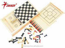 multiple board game set 4 in 1 wooden box type board game