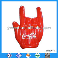 Advertsing inflatable hand, inflatable cheering hand with logo for advertisement