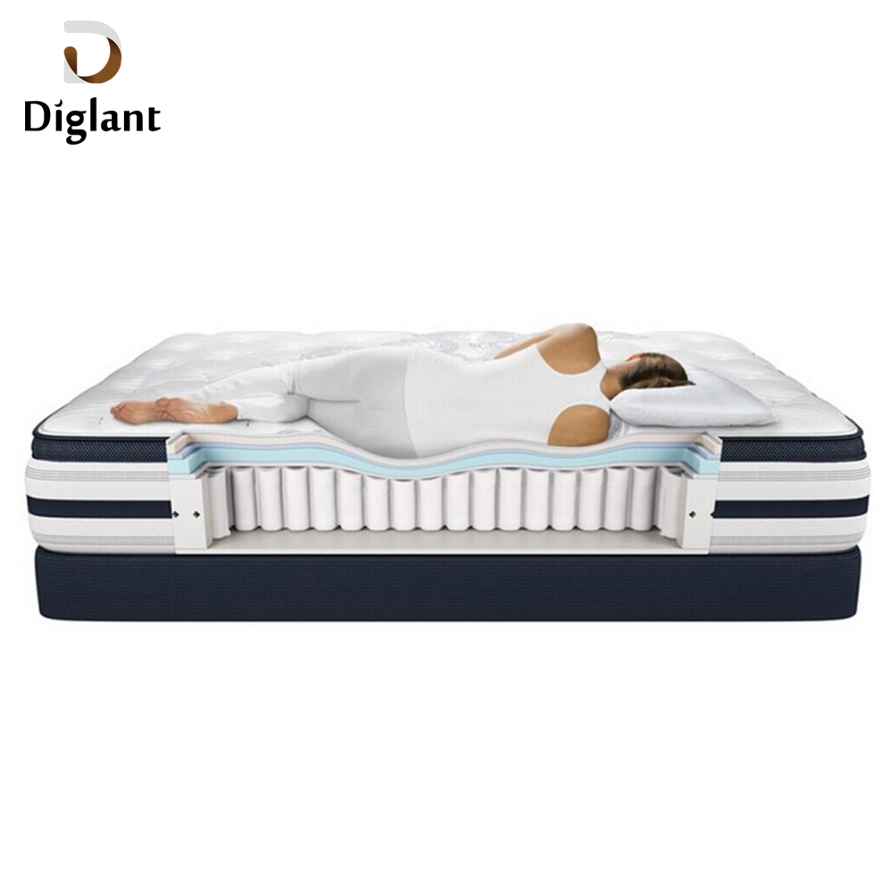 DM005 Diglant Gel Memory Latest Double Fabric Foldable King Size Bed Pocket orthopedic mattress - Jozy Mattress | Jozy.net