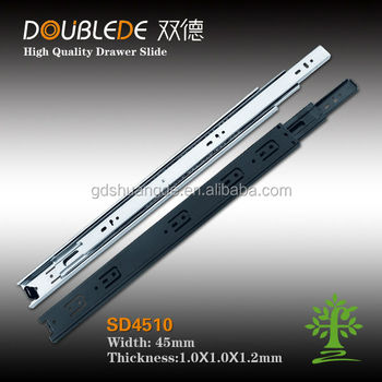 high quality 4510 triple extention silent push to open telescopic channel