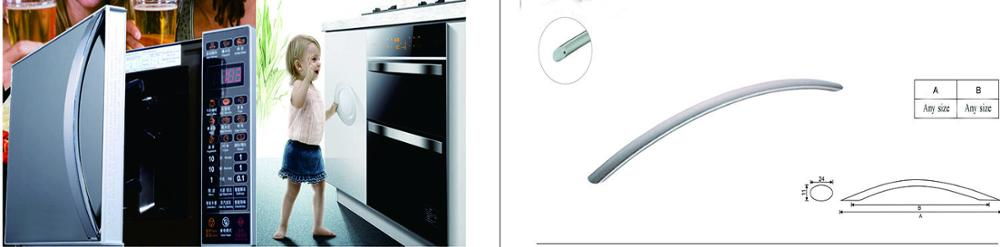 Premium quality PSS 201/304 handle for Microwave oven , steam oven and appliance