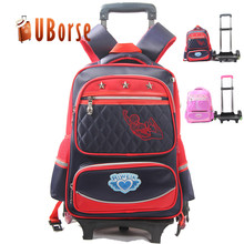 Best selling waterproof kids school bag custom detachable trolley backpack bag