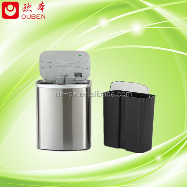 Automatic Sensor Waste Cans Stainless Steel Trash Bin/GYT8-1A-Y