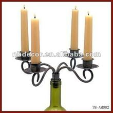New Design Wine Bottle Metal Candelabra