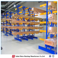selective cantilever racking plastic pipe shelves