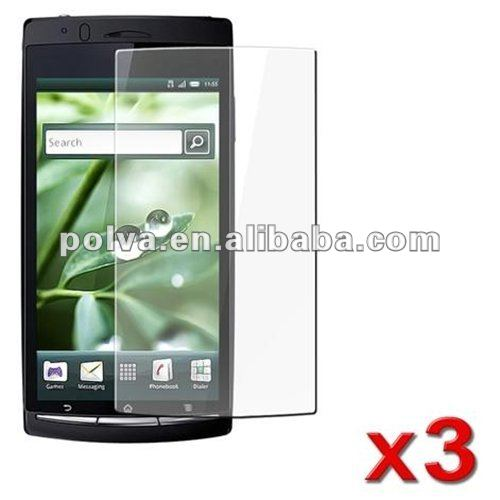 Anti glare SCREEN PROTECTOR screen guard shield word used touch for SONY ERICSSON XPERIA