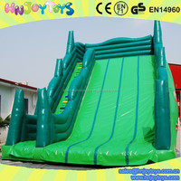 Green inflatable tree dragon house slides